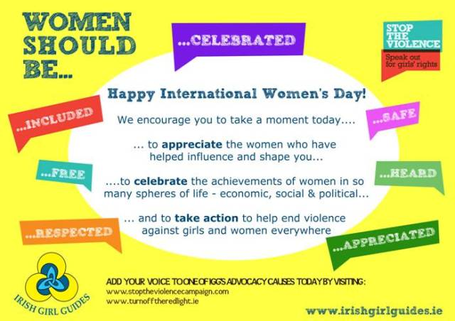 Happy IWD from the Irish Girl Guides